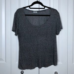 VINCE Gray Blue Short Sleeve Silk T-shirt Medium